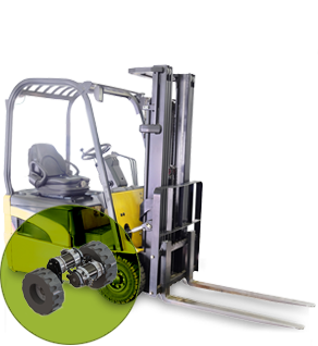 Counterbalanced forklift trucks